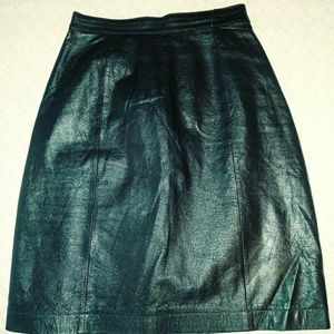 A vintage Wilson leather skirt